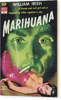 Wood Print featuring the painting Marihuana by Bill Fleming