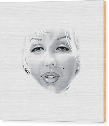 Marilyn Wood Print by Brian Gibbs