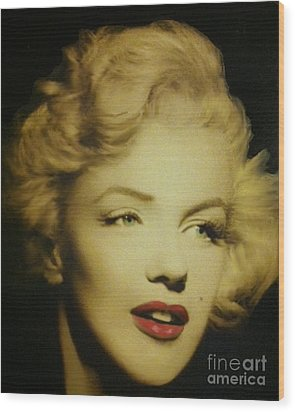 Wood Print featuring the photograph Marilyn by Elizabeth Coats