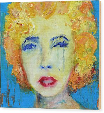 Marilyn Wood Print by Jacquie Gouveia