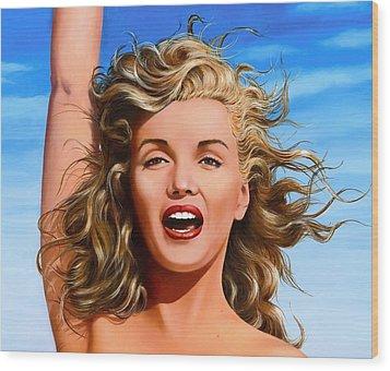 Marilyn Wood Print by James Robertson