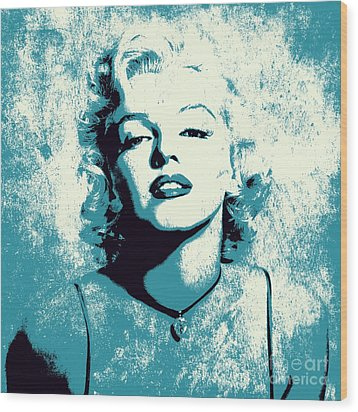 Marilyn Monroe - 201 Wood Print by Variance Collections