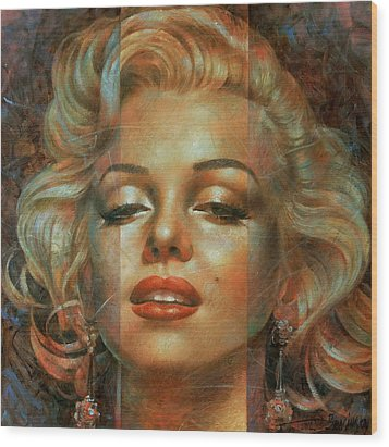 Marilyn Monroe Wood Print by Arthur Braginsky