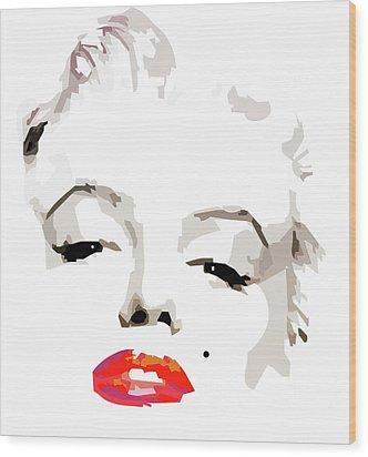 Marilyn Monroe Minimalist Wood Print
