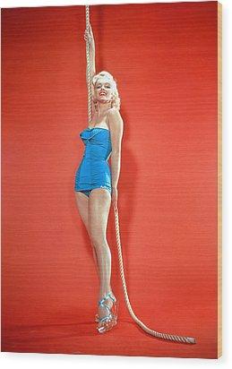 Marilyn Monroe, C. 1950s Wood Print by Everett