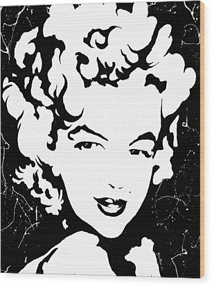 Marilyn Monroe Wood Print by Curtiss Shaffer