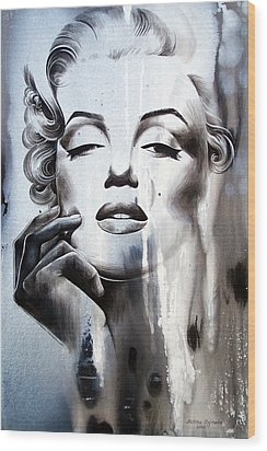 Marilyn Monroe Wood Print by Fatima Azimova