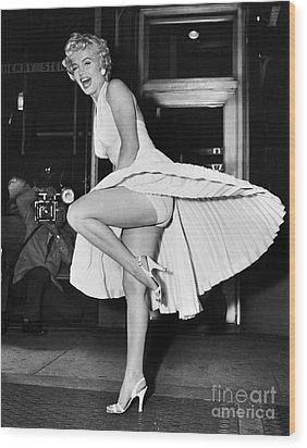 Marilyn Monroe Wood Print by Granger