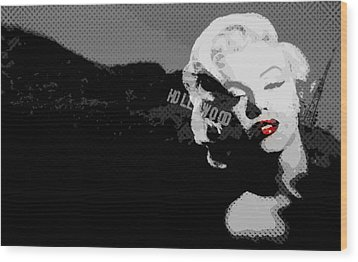 Marilyn Monroe Hollywood Star Wood Print by Brad Scott