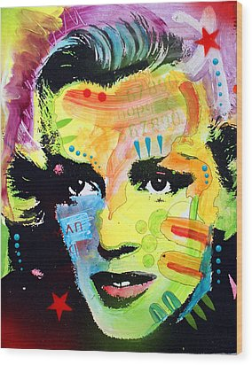 Wood Print featuring the painting Marilyn Monroe I by Dean Russo