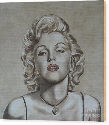 Marilyn Monroe Wood Print by Jindra Noewi