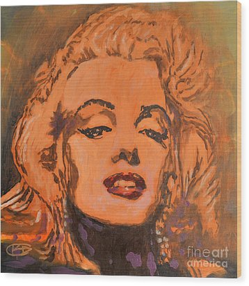 Marilyn Monroe Wood Print by Kip Decker