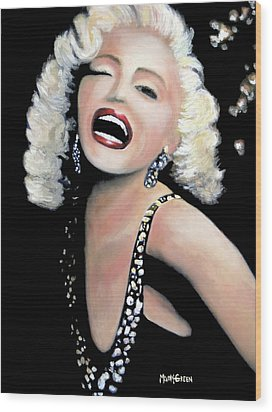 Marilyn Monroe Wood Print by Marti Green