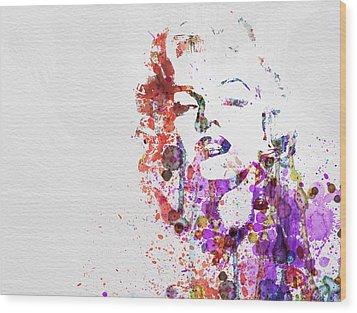 Marilyn Monroe Wood Print by Naxart Studio