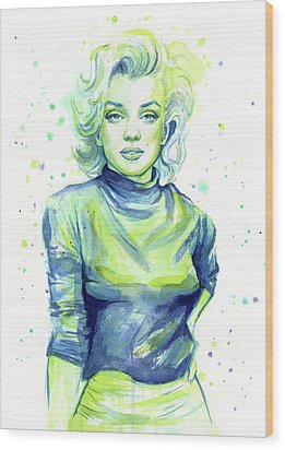 Marilyn Monroe Wood Print by Olga Shvartsur