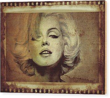 Marilyn Monroe Star Wood Print by Ericamaxine Price