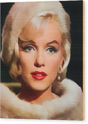 Marilyn Monroe Wood Print by Vincent Monozlay