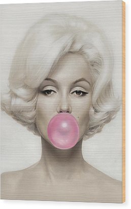 Marilyn Monroe Wood Print by Vitor Costa