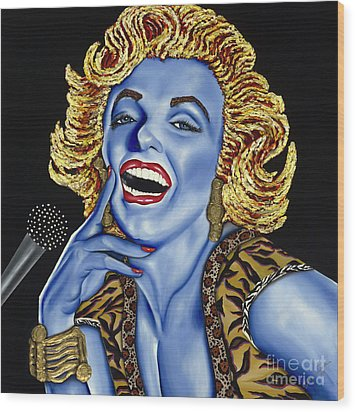 Marilyn Wood Print by Nannette Harris