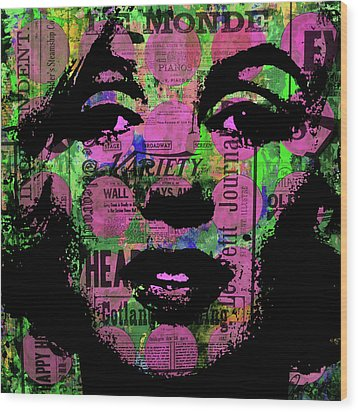 Marilyn Polk Dot Bubble Wrap Pop Art Painting Abstract Robert R Wood Print