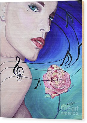 Marilyns Music In The Wind Wood Print by Lisa Rose Musselwhite