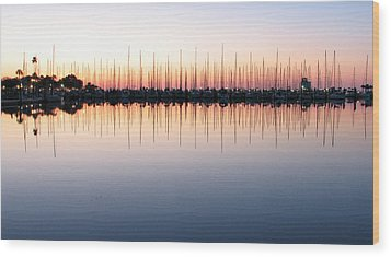 Wood Print featuring the photograph Marina At Dawn by Farol Tomson