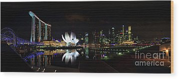 Marina Bay Sands Wood Print by Joerg Lingnau