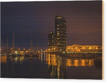 Wood Print featuring the photograph Marina by Ryan Photography