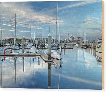 Wood Print featuring the photograph Marina Sunrise by Farol Tomson
