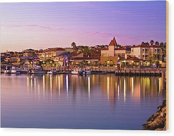 Wood Print featuring the photograph Marina Sunset, Mindarie by Dave Catley