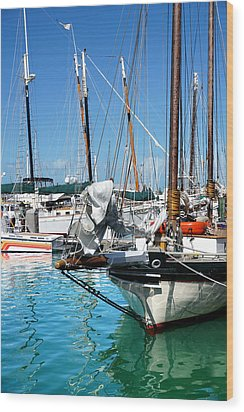 Marinas And Masts  Wood Print