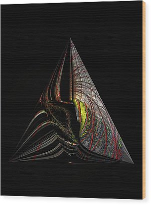 Wood Print featuring the digital art Marine Life Abstract 3 by Irma BACKELANT GALLERIES