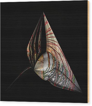 Wood Print featuring the photograph Marine Life Abstrat 2 by Irma BACKELANT GALLERIES