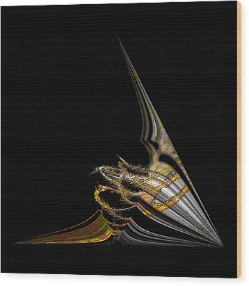 Wood Print featuring the digital art Marine Life Abstrat1 by Irma BACKELANT GALLERIES