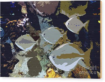 Marine Life Wood Print by David Lee Thompson