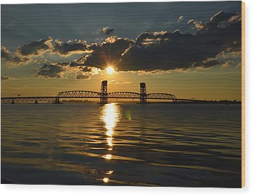 Marine Park Gil Hodges Bridge Wood Print