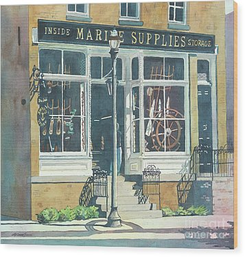 Marine Supply Store Wood Print