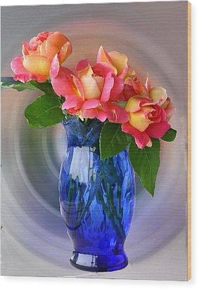 Marions Roses Wood Print