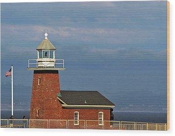 Mark Abbott Memorial Lighthouse California - The World's Oldest Surfing Museum Wood Print by Christine Till