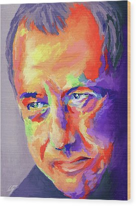 Wood Print featuring the painting Mark Knopfler by Stephen Anderson