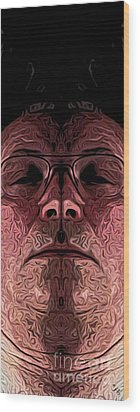 Marked Man Wood Print by Ron Bissett