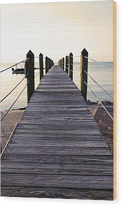 Marker 88 Pier Wood Print by Ty Helbach
