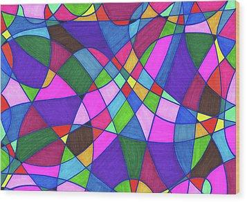 Marker Mosaic Wood Print