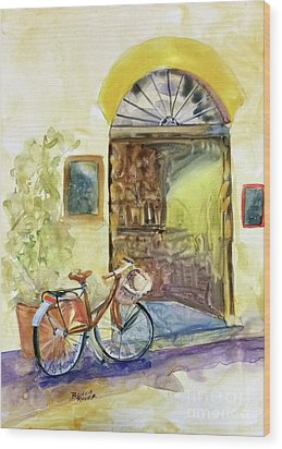 Wood Print featuring the painting Market Day In Lucca by Bonnie Rinier