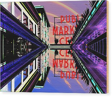 Market Entrance Wood Print by Tim Allen