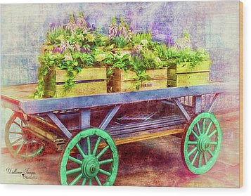 Wood Print featuring the photograph Market Flowers by Wallaroo Images