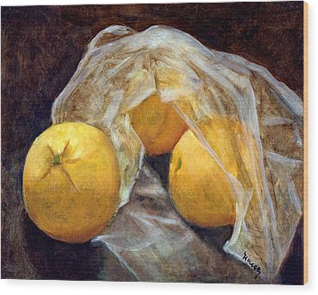 Market Fresh Wood Print by Linda Hiller
