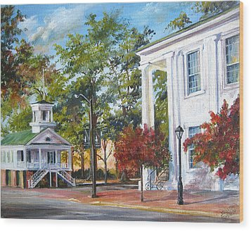 Wood Print featuring the painting Market Hall In The Fall by Gloria Turner