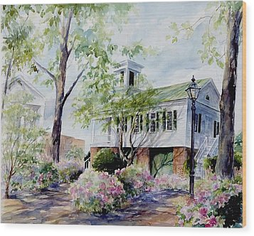Wood Print featuring the painting Market Hall In The Spring by Gloria Turner
