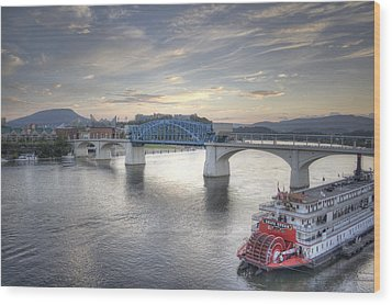 Market Street Bridge Wood Print by David Troxel